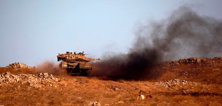 TOPSHOT-ISRAEL-GOLAN-MILITARY